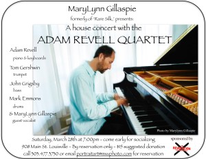 Masterful Musicians, Adam Revell in a local house concert