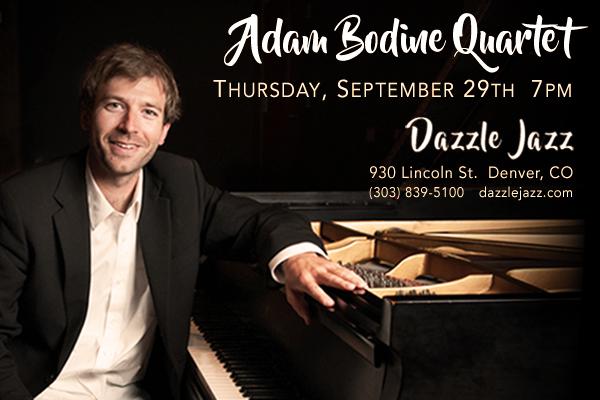 Masterful musicians, Adam Bodine at Dazzle