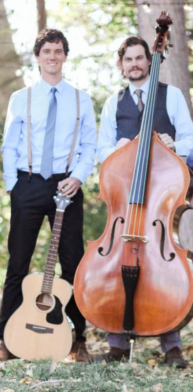 Masterful Musicians roger Harmon and jonathan Barlow, as Tin Brother duet