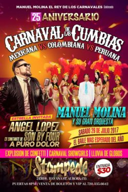 Masterful Musicians, Manuel Molina in the Carnival Cumbrias